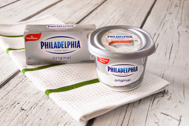 variety of the Philadelphia cream cheese